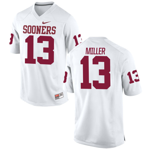 Men's Nike A.D. Miller Oklahoma Sooners Game White Football Jersey