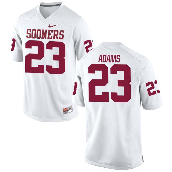 Men's Nike Abdul Adams Oklahoma Sooners Replica White Football Jersey
