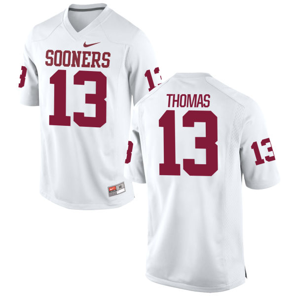 Men's Nike Ahmad Thomas Oklahoma Sooners Game White Football Jersey