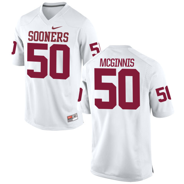 Men's Nike Arthur McGinnis Oklahoma Sooners Game White Football Jersey