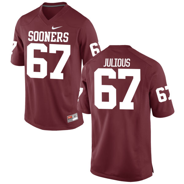 Men's Nike Ashton Julious Oklahoma Sooners Limited Crimson Football Jersey
