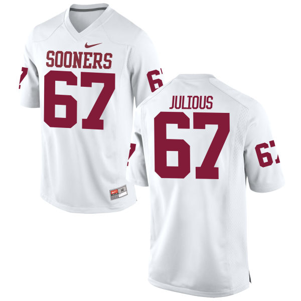 Youth Nike Ashton Julious Oklahoma Sooners Limited White Football Jersey