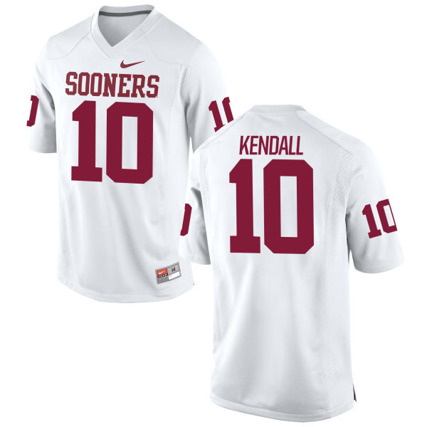 Men's Nike Austin Kendall Oklahoma Sooners Replica White Football Jersey