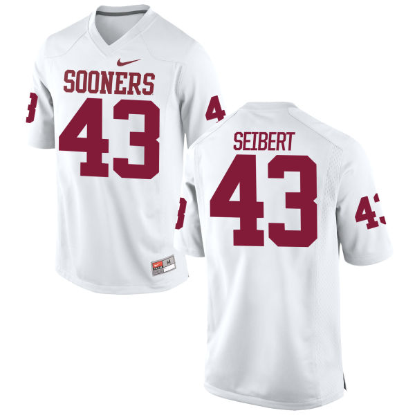 Youth Nike Austin Seibert Oklahoma Sooners Game White Football Jersey
