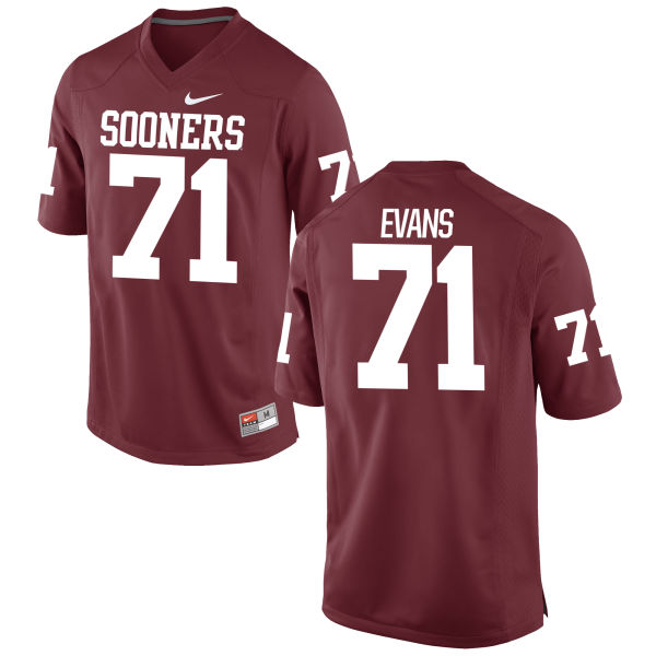 Men's Nike Bobby Evans Oklahoma Sooners Authentic Crimson Football Jersey