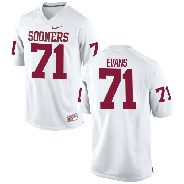 Men's Nike Bobby Evans Oklahoma Sooners Game White Football Jersey