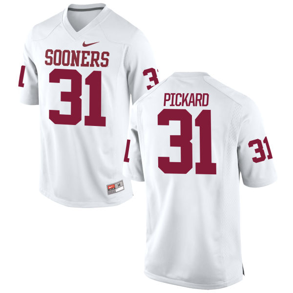 Men's Nike Braxton Pickard Oklahoma Sooners Game White Football Jersey