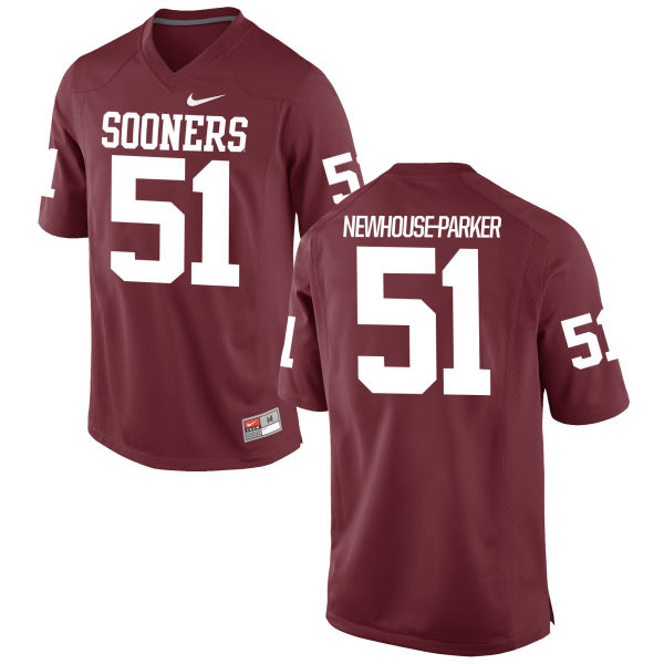 Men's Nike Cade Newhouse-Parker Oklahoma Sooners Game Crimson Football Jersey