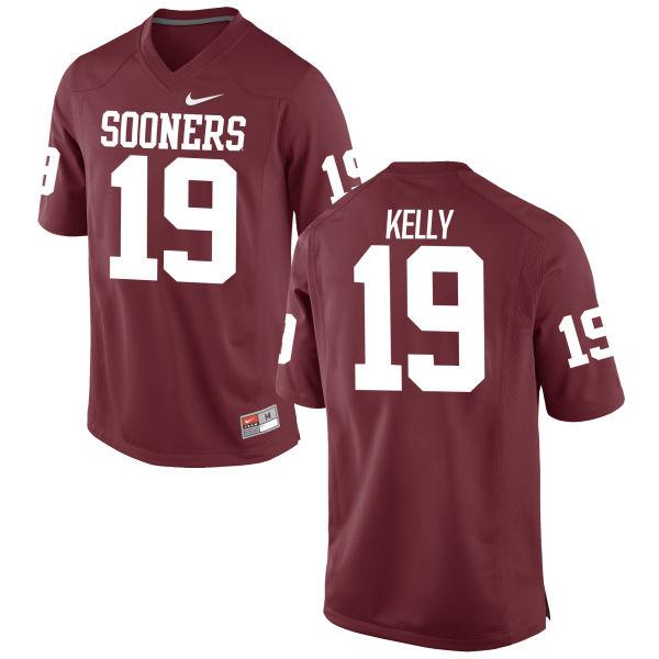 Men's Nike Caleb Kelly Oklahoma Sooners Replica Crimson Football Jersey