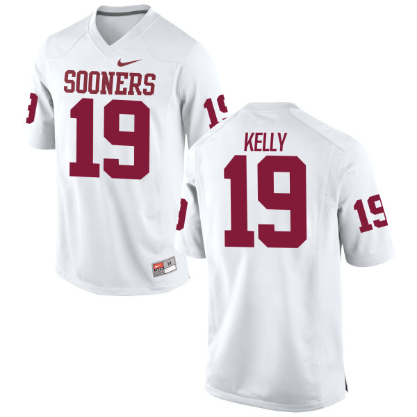 Men's Caleb Kelly Oklahoma Sooners Game White Football Jersey
