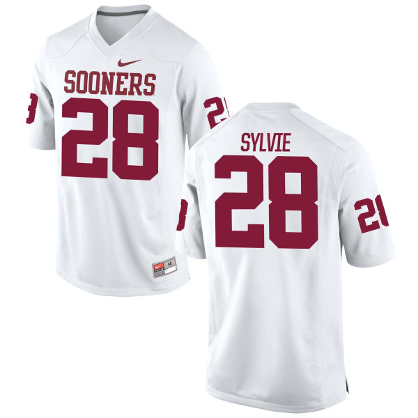 Men's Nike Chanse Sylvie Oklahoma Sooners Replica White Football Jersey