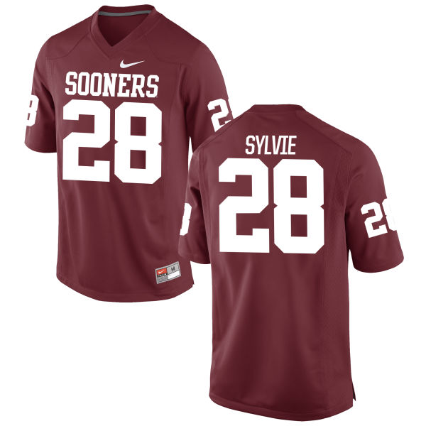 Men's Nike Chanse Sylvie Oklahoma Sooners Game Crimson Football Jersey