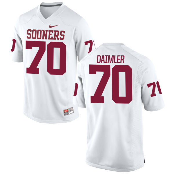 Men's Nike Christian Daimler Oklahoma Sooners Game White Football Jersey