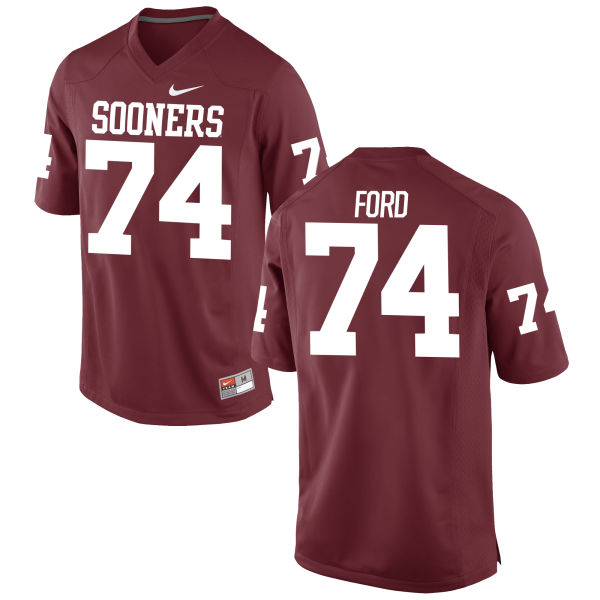 Men's Nike Cody Ford Oklahoma Sooners Authentic Crimson Football Jersey