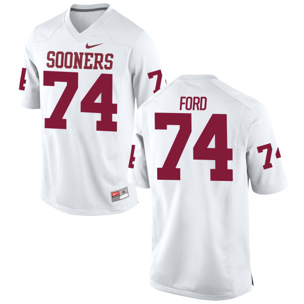 Youth Nike Cody Ford Oklahoma Sooners Game White Football Jersey