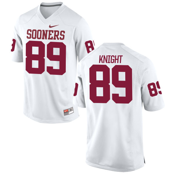 Youth Nike Connor Knight Oklahoma Sooners Game White Football Jersey