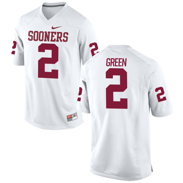 Men's Nike Dahu Green Oklahoma Sooners Replica White Football Jersey