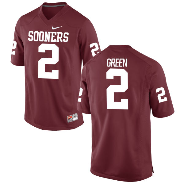 Men's Nike Dahu Green Oklahoma Sooners Game Green Football Jersey Crimson