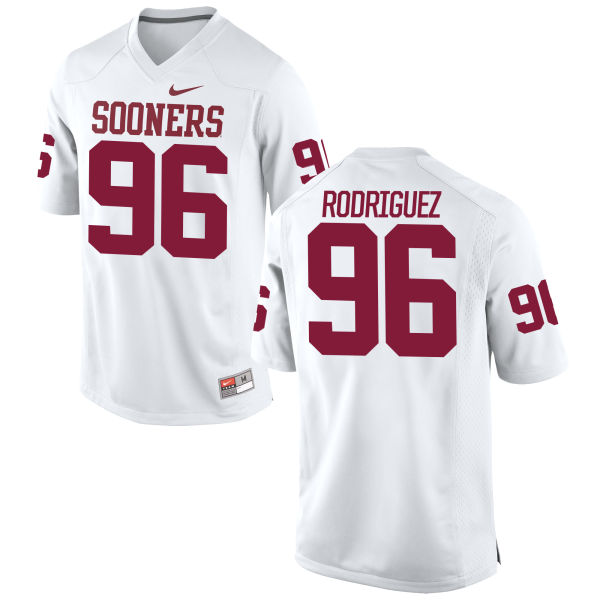 Men's Nike Dalton Rodriguez Oklahoma Sooners Game White Football Jersey
