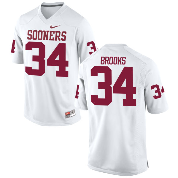 Men's Nike Daniel Brooks Oklahoma Sooners Game White Football Jersey