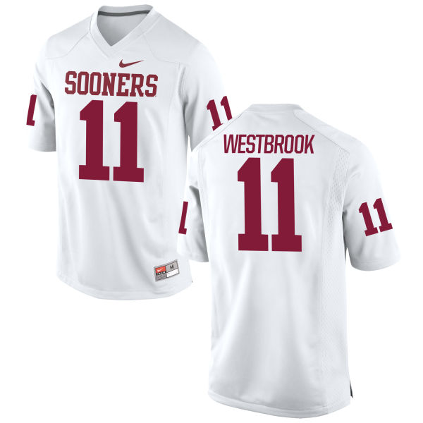 Men's Nike Dede Westbrook Oklahoma Sooners Limited White Football Jersey