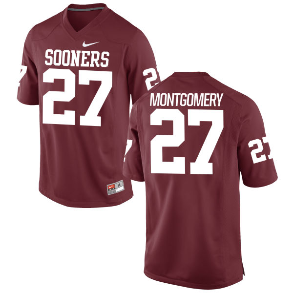 Men's Nike Devin Montgomery Oklahoma Sooners Game Crimson Football Jersey