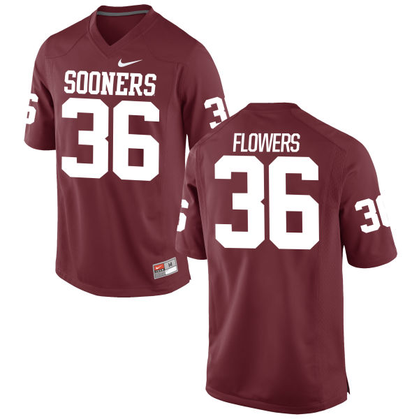 Men's Nike Dimitri Flowers Oklahoma Sooners Game Crimson Football Jersey