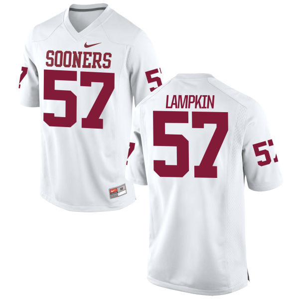 Men's Nike Du'Vonta Lampkin Oklahoma Sooners Replica White Football Jersey