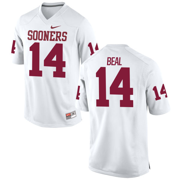 Men's Nike Emmanuel Beal Oklahoma Sooners Authentic White Football Jersey
