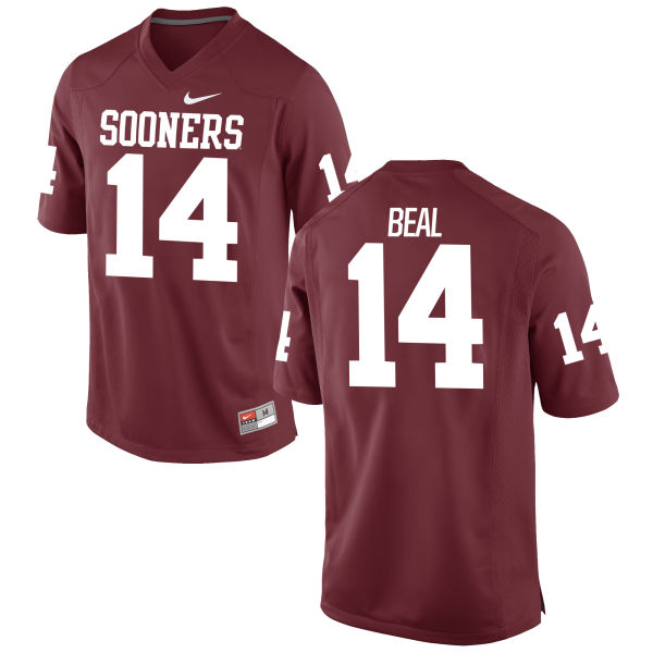 Men's Nike Emmanuel Beal Oklahoma Sooners Game Crimson Football Jersey