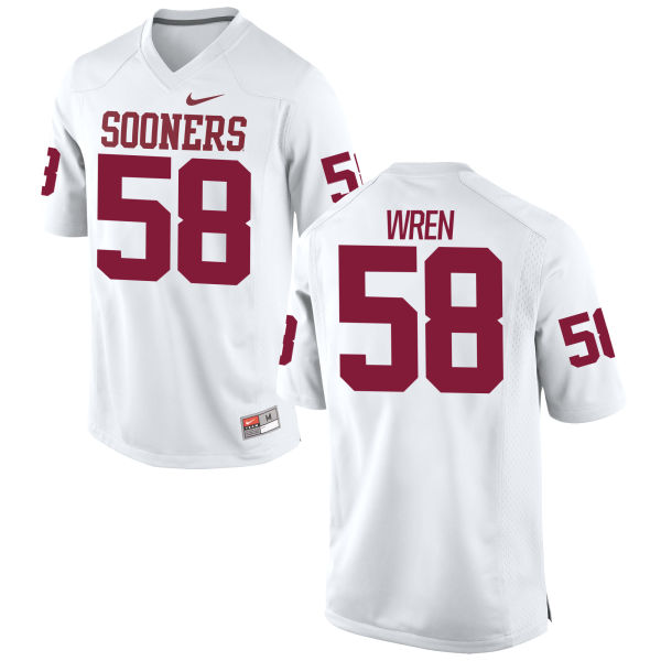 Men's Nike Erick Wren Oklahoma Sooners Game White Football Jersey