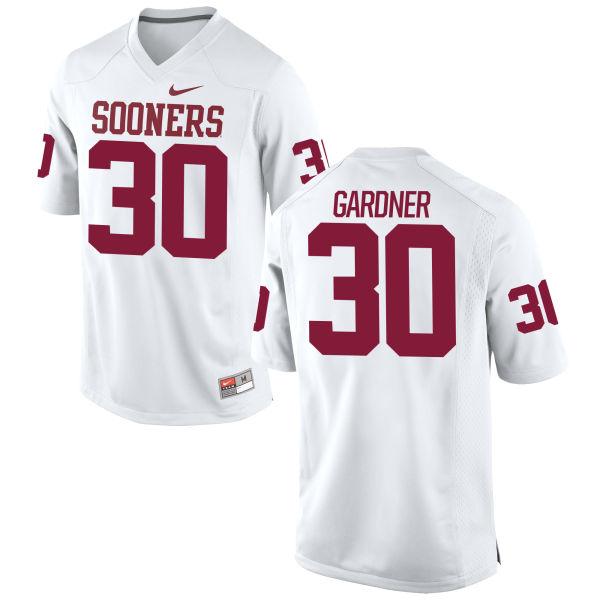 Men's Nike Ernest Gardner Oklahoma Sooners Replica White Football Jersey