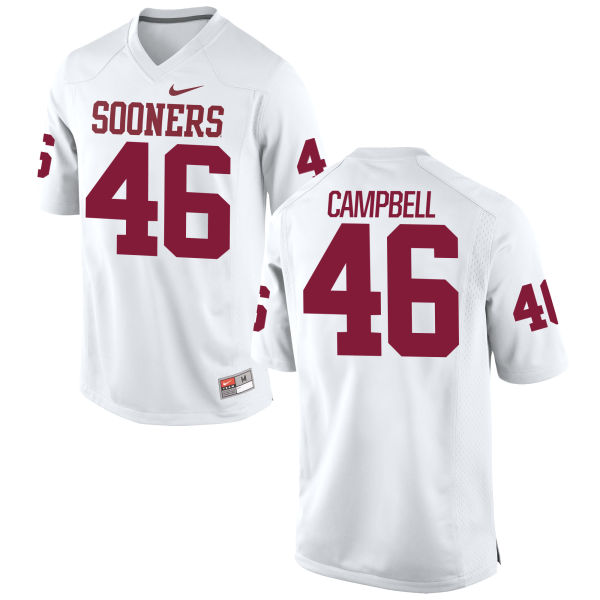 Youth Nike Gabriel Campbell Oklahoma Sooners Game White Football Jersey