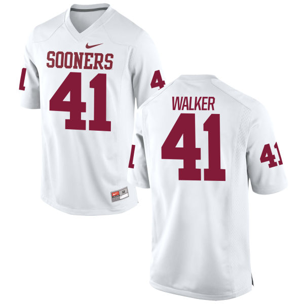 Men's Nike Jesse Walker Oklahoma Sooners Game White Football Jersey