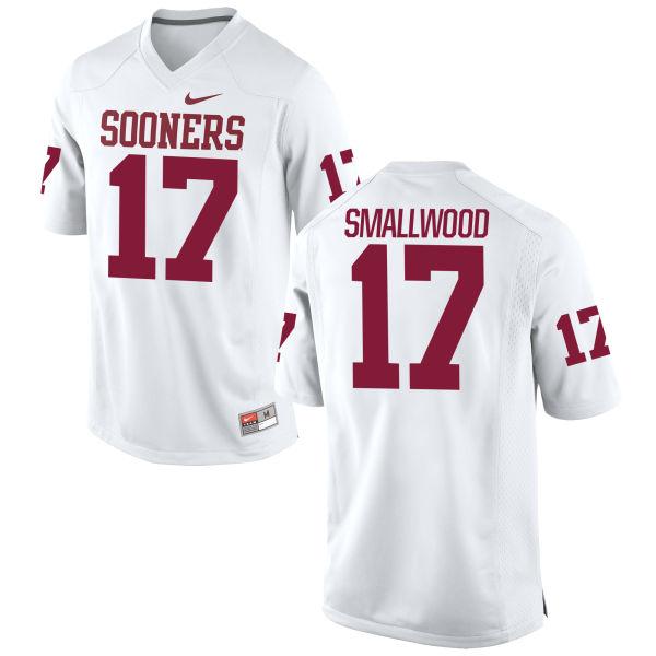 Men's Nike Jordan Smallwood Oklahoma Sooners Authentic White Football Jersey