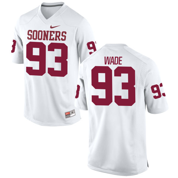 Men's Nike Jordan Wade Oklahoma Sooners Game White Football Jersey