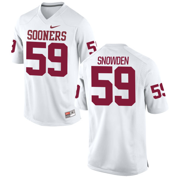 Men's Nike Kane Snowden Oklahoma Sooners Game White Football Jersey