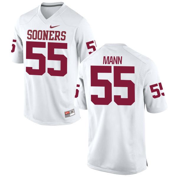 Men's Nike Kenneth Mann Oklahoma Sooners Replica White Football Jersey