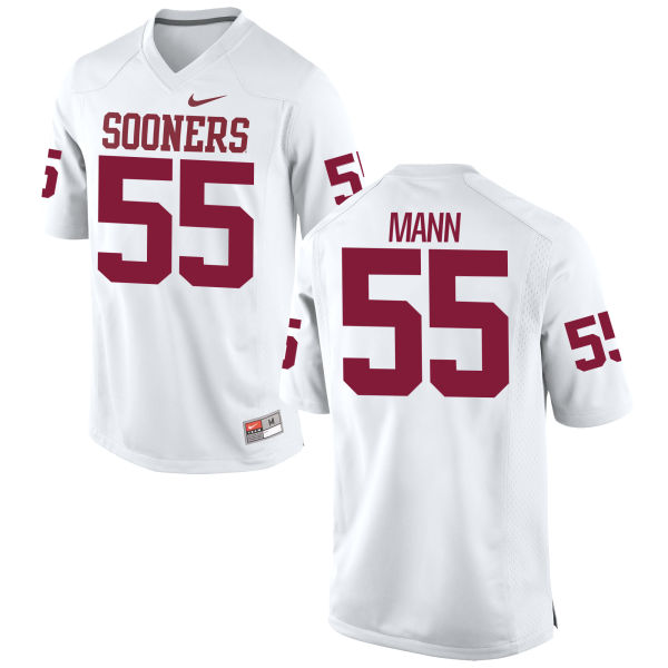 Men's Nike Kenneth Mann Oklahoma Sooners Game White Football Jersey