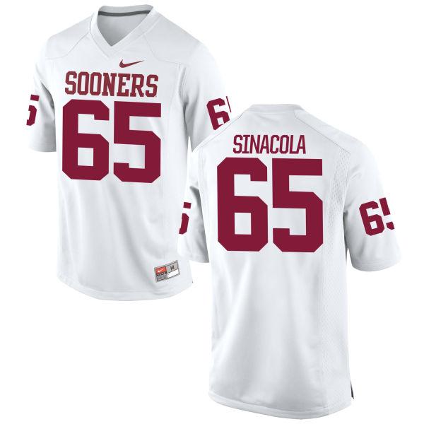Men's Nike Mario Sinacola Oklahoma Sooners Game White Football Jersey