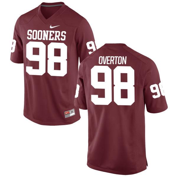Men's Nike Marquise Overton Oklahoma Sooners Authentic Crimson Football Jersey