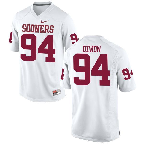 Youth Nike Matt Dimon Oklahoma Sooners Game White Football Jersey