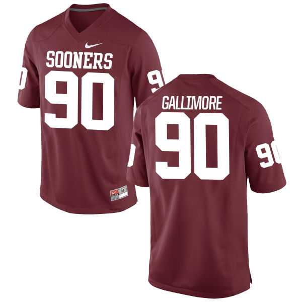 Men's Nike Neville Gallimore Oklahoma Sooners Game Crimson Football Jersey