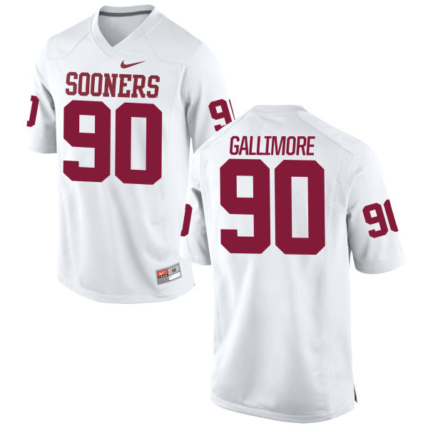 Youth Nike Neville Gallimore Oklahoma Sooners Game White Football Jersey