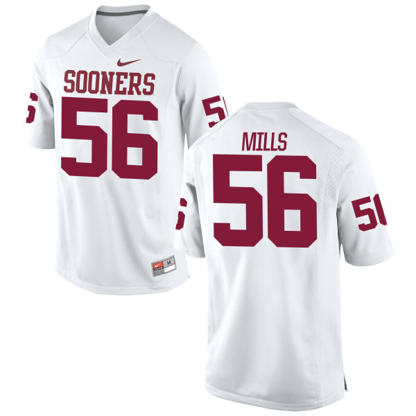 Men's Nike Nick Mills Oklahoma Sooners Game White Football Jersey