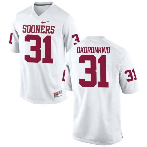 Men's Nike Ogbonnia Okoronkwo Oklahoma Sooners Game White Football Jersey