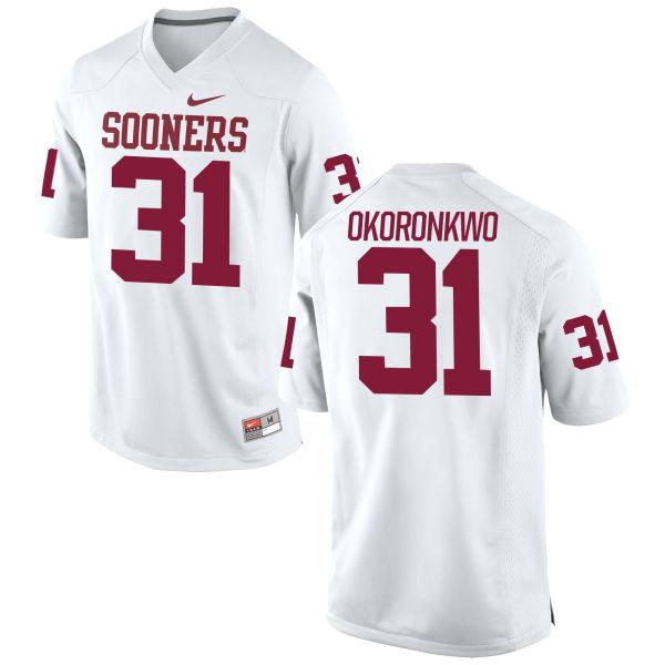 Women's Nike Ogbonnia Okoronkwo Oklahoma Sooners Replica White Football Jersey