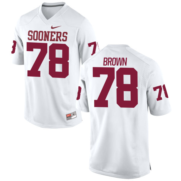 Men's Nike Orlando Brown Oklahoma Sooners Authentic White Football Jersey