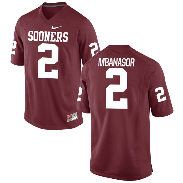 Men's Nike P.J. Mbanasor Oklahoma Sooners Game Crimson Football Jersey