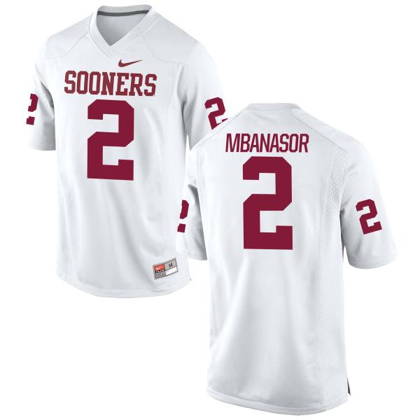 Men's Nike P.J. Mbanasor Oklahoma Sooners Game White Football Jersey